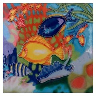Tropical Fish Decorative Ceramic Wall Art Tile 8x8