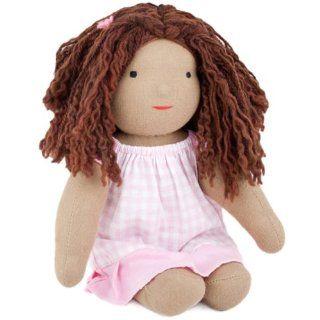 "'Anna' Camden Doll , 11"" 12"" Natural Waldorf Doll, Brown Hair, Brown Eyes, Light Brown Skin by Camden Rose Toys & Games"
