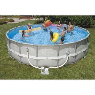 "Intex Ultra Frame 18' x 48"" Swimming Pool   Round  Patio, Lawn & Garden"