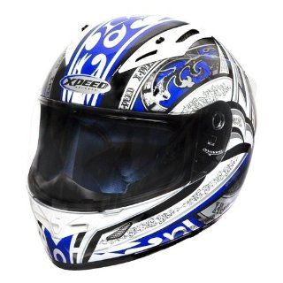 Xpeed Helmet XF 705 Euphoria Helmet (Blue/Black, Medium) Automotive