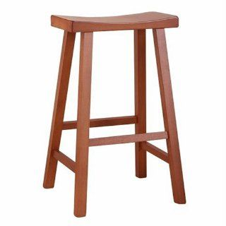 "Carolina Cottage 683 30 WAL 30"" Saddle Seat Stool, Walnut   Barstools"