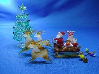 Fairy glass studio of Christmas forest animals and glass crafted Santa (japan import) Toys & Games