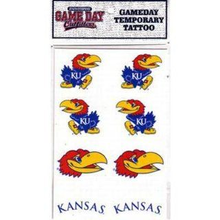 Kansas Jayhawks 8 Pack of Team Logo Temporary Tattoo Decals: Sports & Outdoors