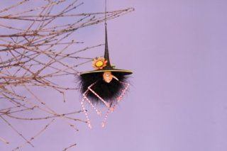 """Patience Brewster Krinkles Halloween Spider Ornaments 8"""" 2013   Decorative Hanging Ornaments"""