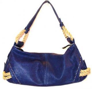 Innue Navy Blue Leather Hobo Satchel Bag Handbag Clothing