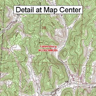 USGS Topographic Quadrangle Map   Catlettsburg, Kentucky (Folded/Waterproof)  Outdoor Recreation Topographic Maps  Sports & Outdoors