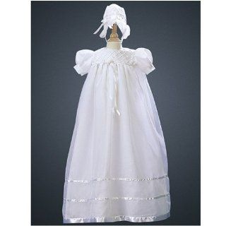 Lito Infant Baby Girls White Christening Gown Dress Bonnet 9 12M Baby