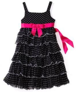 Bonnie Jean Girls 7 16 Multi Tier Dress, Black/White, 8 Playwear Dresses Clothing
