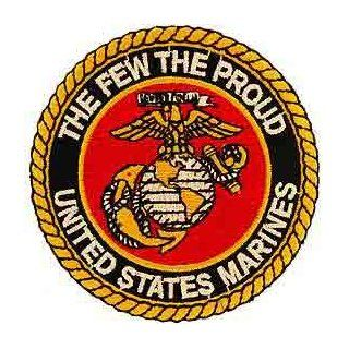 "USMC Marine Corps Military Embroidered Iron On Patch   ""The Few, The Proud"" Eagle Globe Anchor Logo Applique: Novelty Baseball Caps: Clothing"