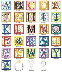 Brother Machine Embroidery Designs Collection Renaissance Alphabet on Usb Stick