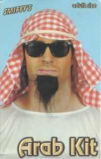 Arabic Costume Arab Kit Adult Shiek Arabian Prince Muslim Hijab Halloween Party: Clothing