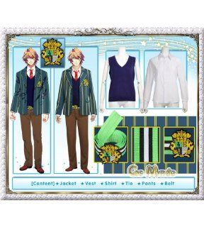 Uta no Prince sama   Shinomiya Natsuki School Uniform Cosplay Costume [Deluxe Set]: Toys & Games