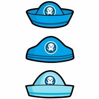 Pack Of 6 Blue Octonauts Card Hats   Party Products: Toys & Games