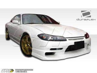 1995 1998 Nissan 240SX Silvia S15 Duraflex TKO Conversion Kit   4 Piece   Includes TKO Front Bumper Cover (102206) S15 OEM Fiberglass Hood (100889) S15 OEM Fenders (101643) Automotive