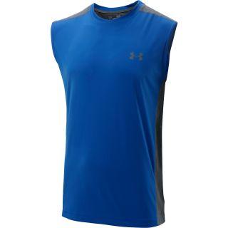 UNDER ARMOUR Mens ArmourVent Sleeveless T Shirt   Size L, Black/graphite