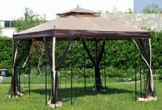 (Big Lots) 10'x10' Double Arch Gazebo canopy & netting  Patio, Lawn & Garden