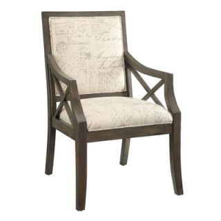 Crestview Driftwood French Script X Arm Chair