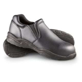 Men's Guide Gear Slip   resistant Steel Toe Slip   on Shoes Black, BLACK, 12M Shoes
