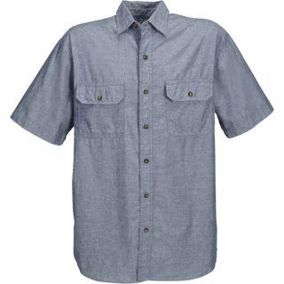 Key Short Sleeve Blue Chambray Shirt   XL, Model 507.45