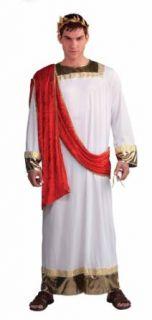 Forum Julius Caesar Complete Costume, Red/White, Standard Clothing