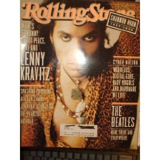 Rolling Stone Magazine, Issue 722, Lenny Kravitz cover Various Books