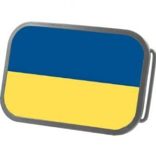 Ukraine Country Flag Team Grey Belt Buckle Clothing