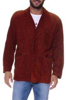 Cristiano di Thiene Leather Jacket MADRAS, Color: Dark Red, Size: 50 at  Men�s Clothing store: