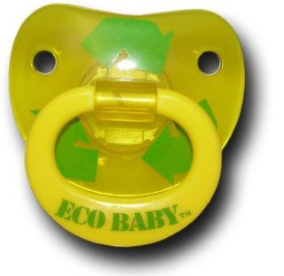 Billy Bob Eco Baby Pacifier   Recycle Yellow  Birthday Teething  Baby