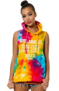 Dimepiece LA Women's Boss Angeles Tie Dye Pullover Hoody Small Multi: Clothing