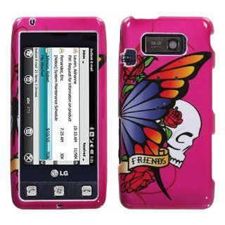 Snap On Cover Hard Case Skin Protector for LG Fathom VS750   Best Friend Hot Pink + Free Stars Stripes Silicone Wristband Cell Phones & Accessories