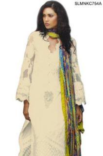 SLMNKC754A   Cbazaar Salwar Kameez White: Clothing