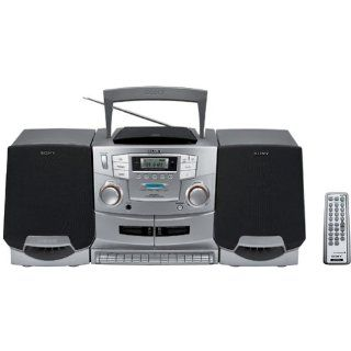 Sony CFD ZW755 Portable CD / Cassette / Radio Boombox with Detachable Speakers   Players & Accessories