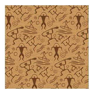 Hawaiian Petroglyph Tapa Design Gift Wrap Paper / 2 Rolls Health & Personal Care