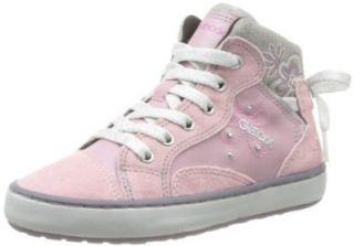 Geox Girls' Witty High Top Sneaker Pink 33 M EU: Shoes