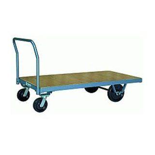 Platform Truck 30x60 Wood Deck Plastex Wheels 3000 Lbs