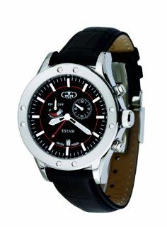 Gio Monaco Men's 772 F Estasi Black Dial Leather Alarm Watch at  Men's Watch store.