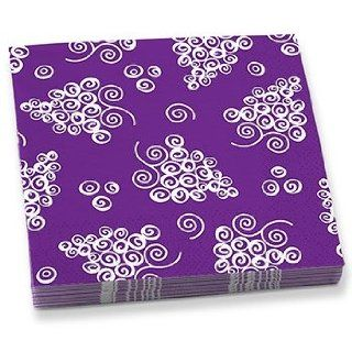 Swirl Design Grape Cluster Cocktail Party Napkins, Pack of 20: Kitchen & Dining