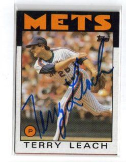1986 TOPPS #774 METS TERRY LEACH SIGNED CARD AUTO Sports Collectibles