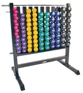 Power Systems Dumbbell Storage Rack with 44 Vinyl Pairs DB  Sports & Outdoors