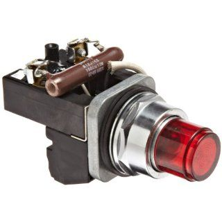 Siemens 52PA6M2A Heavy Duty Push To Test Indicator Pilot Light, Incandescent Lamp, Water and Oil Tight, Plastic Lens, Resistor Type AC/DC, 24V 757 Type Lamp or 24V LED, Red, 1NC + 1NO Contact Blocks, 120 volts Industrial & Scientific