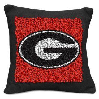NCAA Georgia Bulldogs Pillow Latch Hook Kit, 9 Inch  Sports Fan Throw Pillows  Sports & Outdoors