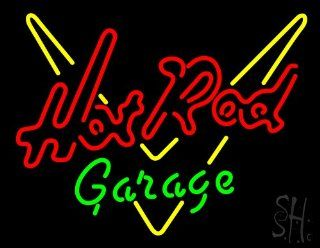 "Hot Rod Garage Outdoor Neon Sign 24"" Tall x 31"" Wide x 3.5"" Deep : Business And Store Signs : Office Products"