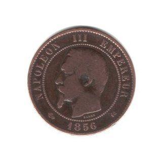 1856 K France 10 Centimes Coin KM#771.5   Napoleon