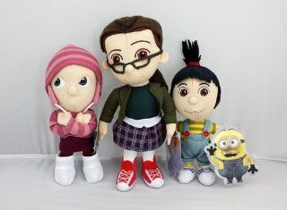 Official 2013 Despicable Me 2 Complete Orphan Set Agnes Edith Margo Mini Plush Doll Toy: Toys & Games