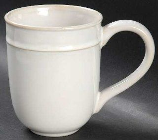 Food Network China Fontina White Mug, Fine China Dinnerware