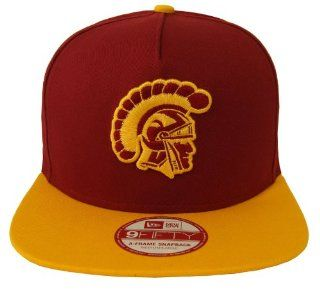 USC Trojans Retro New Era Flip Up Snapback Cap Hat 2 Tone
