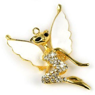 Huan Xun Gold Lay Fox Angle with Wing Pendant Jewelry,pt 785 Jewelry