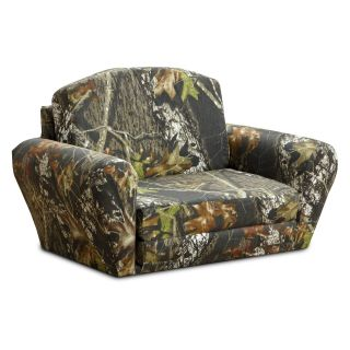 Kidz World Mossy Oak Camouflage Sleepover Sofa   Kids Sofas