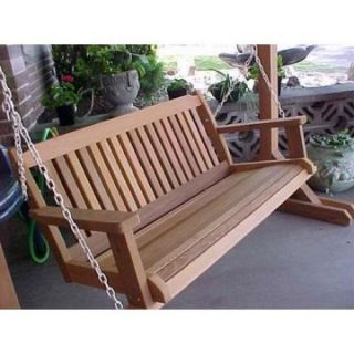 Wood Country Cabbage Hill 5 ft. Red Cedar Porch Swing   Porch Swings
