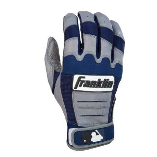 Franklin CFX Pro Series Youth Batting Gloves   Gray/Navy   Players Equipment